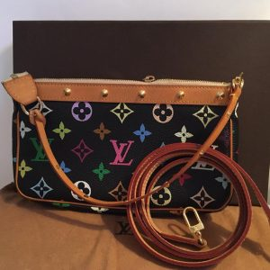 Pre-loved Multi Color Black Pochette Louis Vuitton - front view